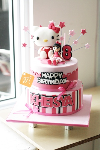 Hello Kitty 2 Tiered Cake dapurMaecom Flickr