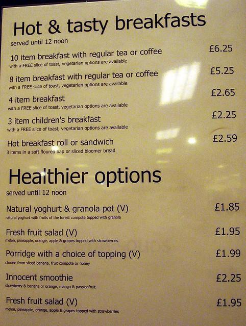 Debenhams Cafe Menu Warrington