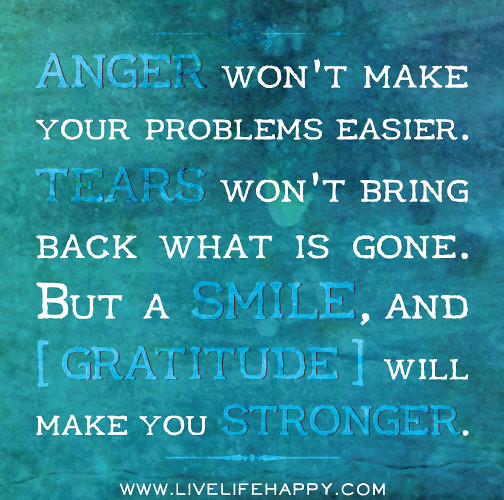 Anger Problem Quotes: Anger Won't Make Your Problems Easier. Tears Won't Bring B