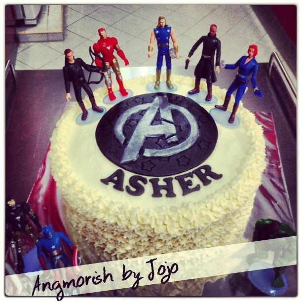 avengers chocolate birthday cake buttercream fondant Flickr