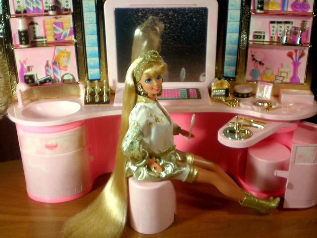 barbie hollywood hair barbie hollywood hair salon 1992