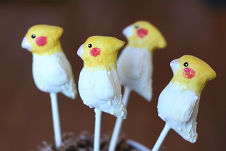 White Cockatiel Cake Pops | by Sweet Lauren Cakes