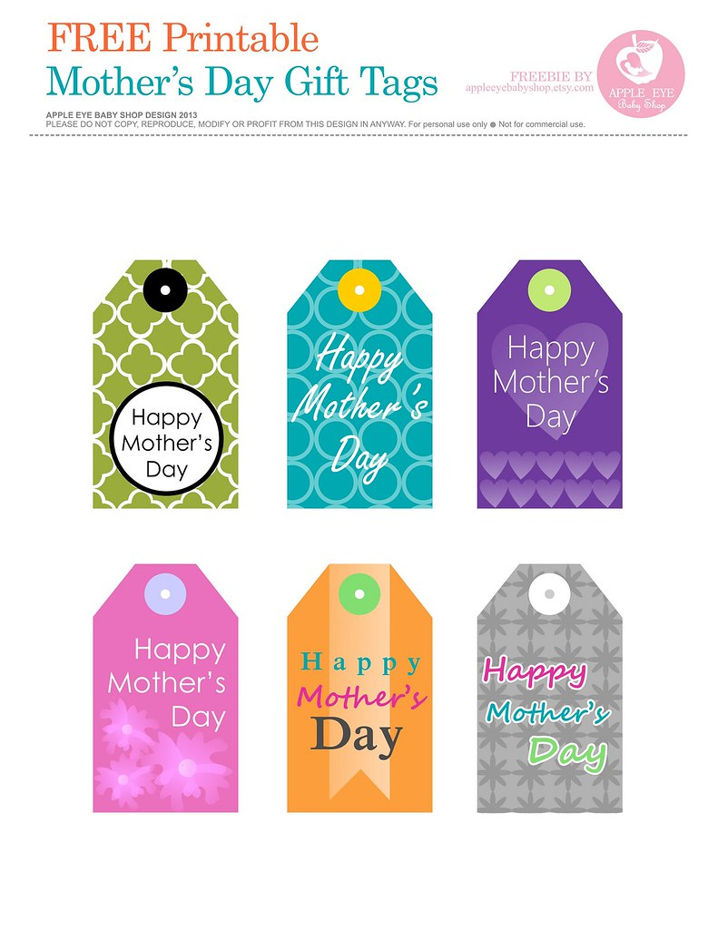 free printable mother 39 s day gift tags by apple eye baby flickr. Black Bedroom Furniture Sets. Home Design Ideas