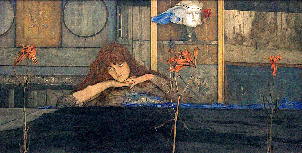 ... I lock my door upon myself | by f_snarfel & Khnopff I lock my door upon myself | Fernand Khnopff (1858-u2026 | Flickr pezcame.com