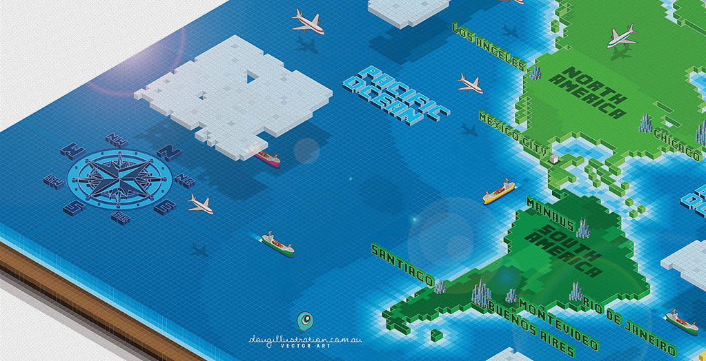 All sizes isometric vector world map second peak flickr all sizes isometric vector world map second peak flickr photo sharing gumiabroncs Images