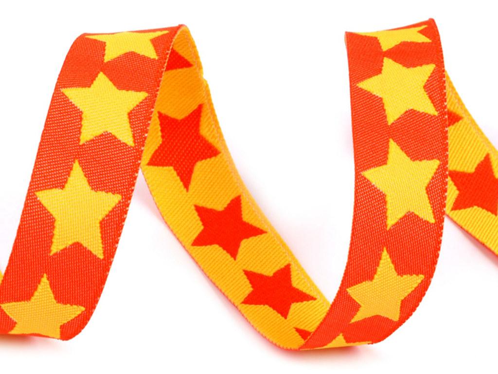 "Webband ""Sterne"", orange-gelb"