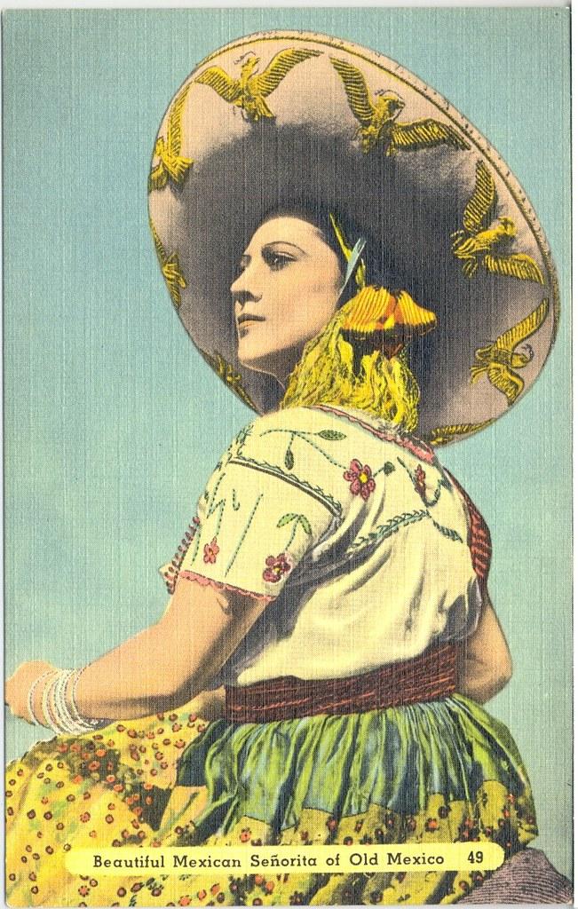 China Poblana Mexican Postcard