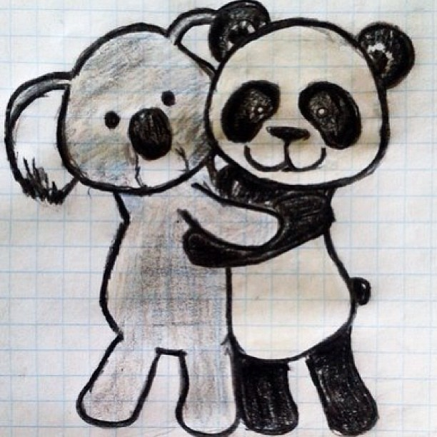 hah ok its joke art drawing draw panda koala