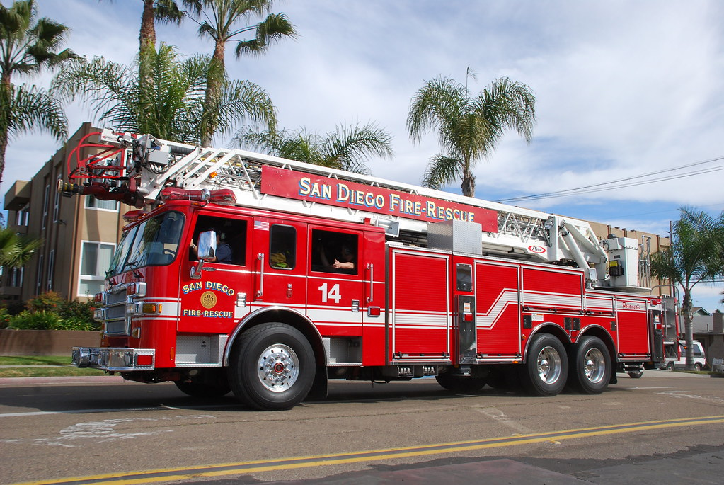 Cal Fire Map >> SDFD Ladder Truck | Pierce ladder truck in North Park. | So Cal Metro | Flickr