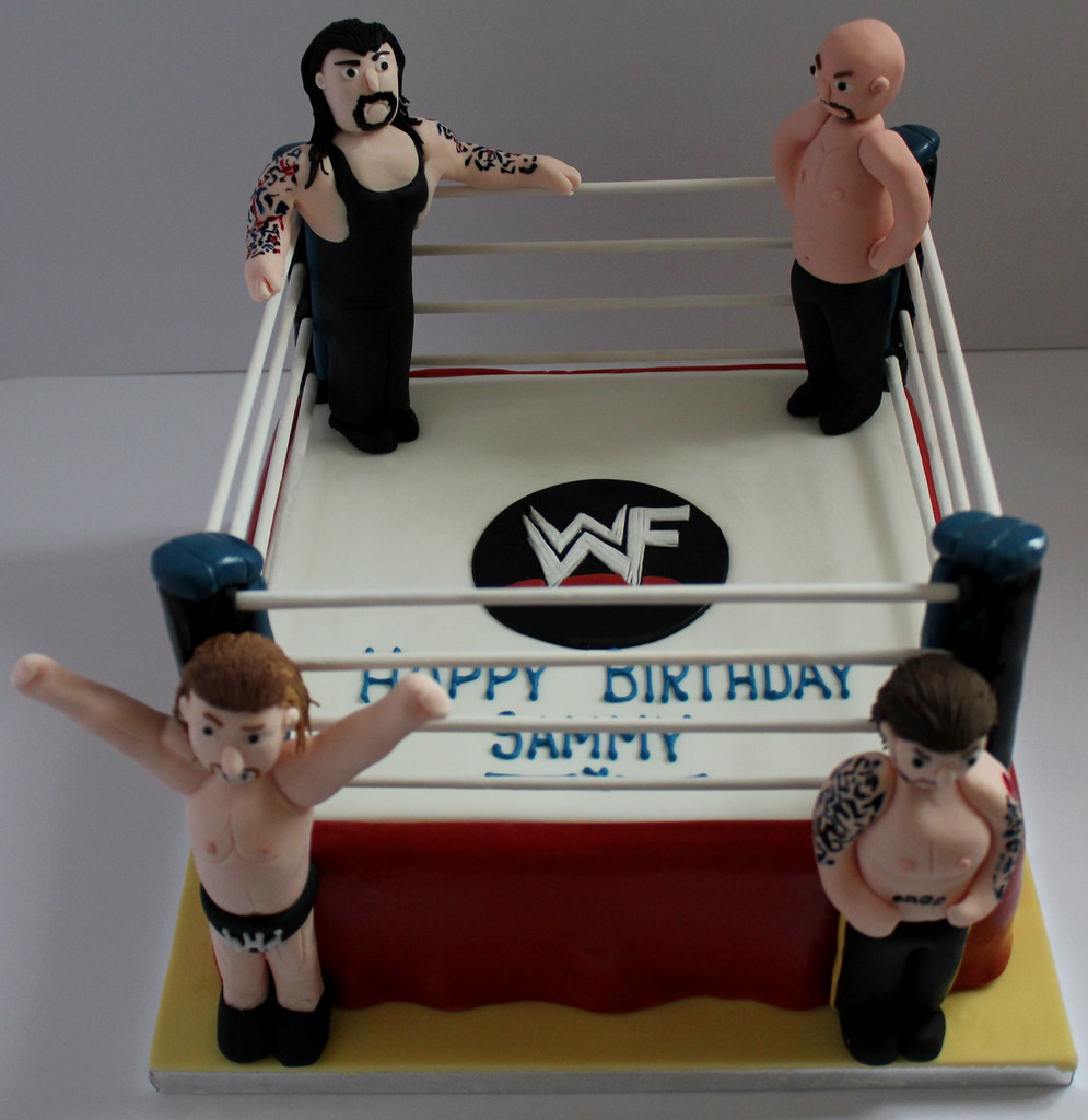 Wwf Wrestlers Birthday Cake Pauls Creative Cakes Flickr