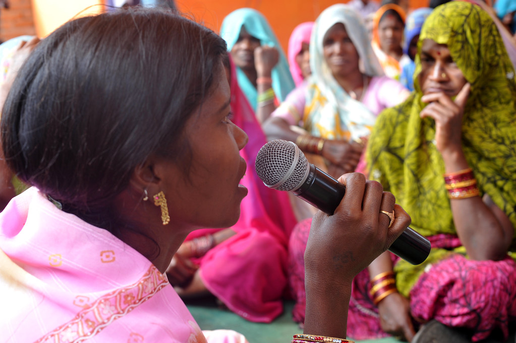 Women sarpanches during a training programme by Ministry of Panchayati Raj and UNDP. Source: UNDP