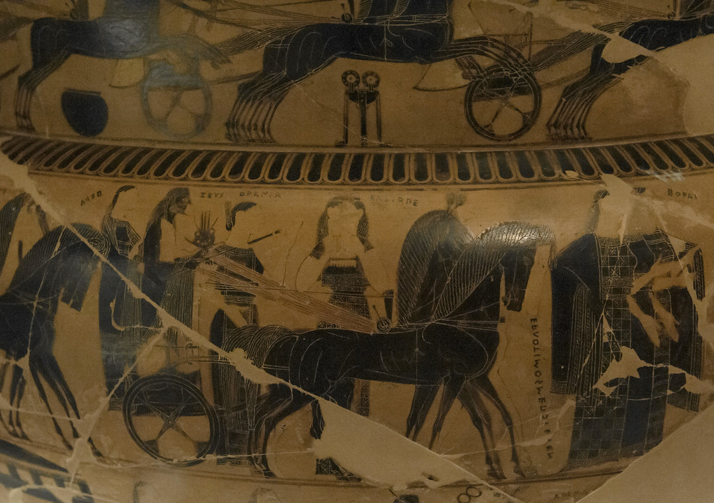 8 Franois Vase Side Athe Marriage Of Thetis And Peleus Flickr