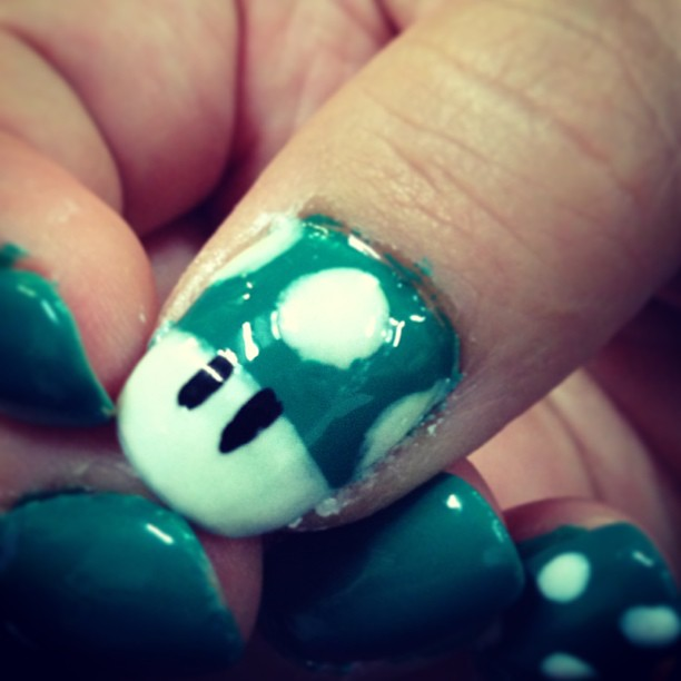 My Nail Art Retro Gaming Super Mario Mushroom Bkcraftcamp Flickr