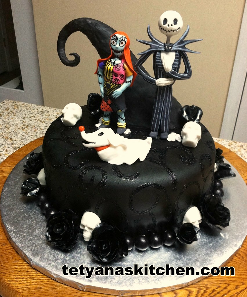 the nightmare before christmas birthday cake by tetyanaskitchen ruta_ua
