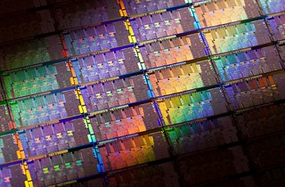 Intel 2nd Generation Core microprocessor codenamed Sandy Bridge Wafer | by IntelFreePress