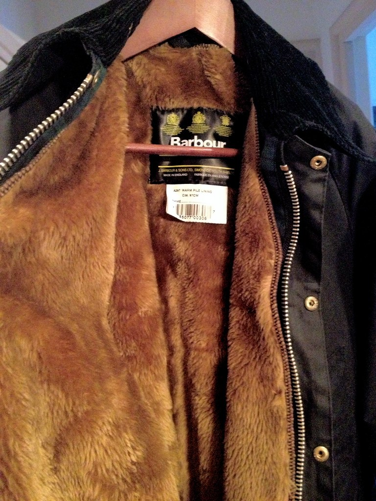 Barbour Bedale wax jacket with faux fur liner clicked in ...