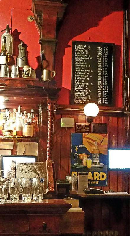 Whisky menu at The Shore