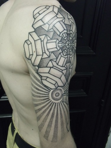 Dotwork Lego Tattoo by Dan DiMattia | by Needles and Sins (formerly Needled)