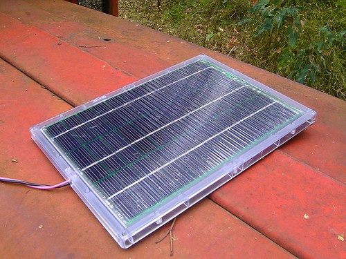 1) Grab a solar cell and put it in the sun.