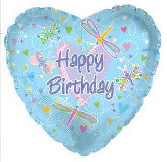 Happy Birthday Dragonfly Cake