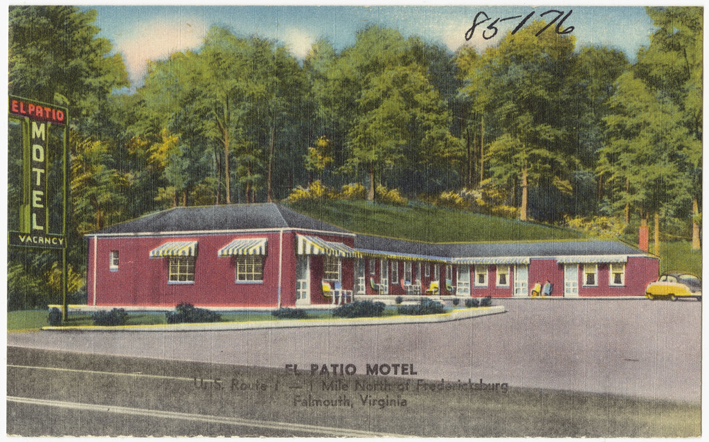 el patio motel u s route 1 1 mile north of fredericks flickr