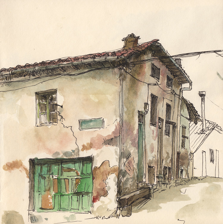 Calle la flor guardo life sketch at guardo abandoned for House sketches from photos