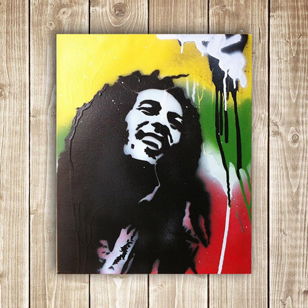 Dreadlock Rasta | Bob Marley done in spray paint | desirae ...