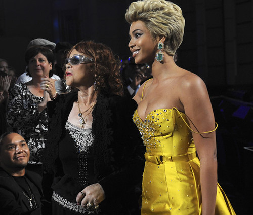 Beyonce Knowles,Etta James, Donto James And Music Manager