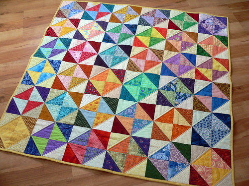 Scrappy HSTs | by Deb@asimplelifequilts