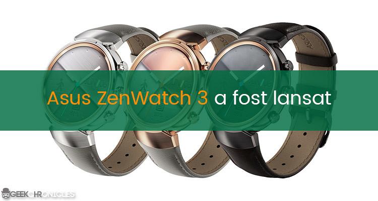 asus zenwatch 3 pret