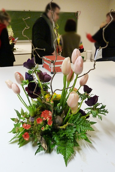 composition florale style vegetatif v ronique villemagne. Black Bedroom Furniture Sets. Home Design Ideas