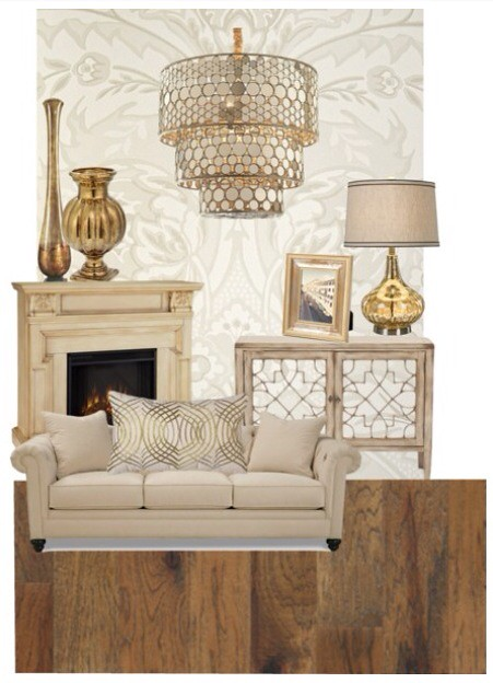 Gold Amp Cream Living Room Mood Board Made On Polyvore