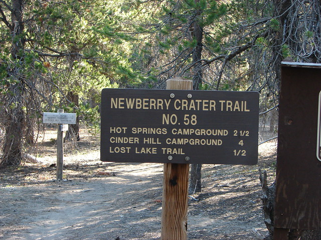 Newberry Crater Trail sign