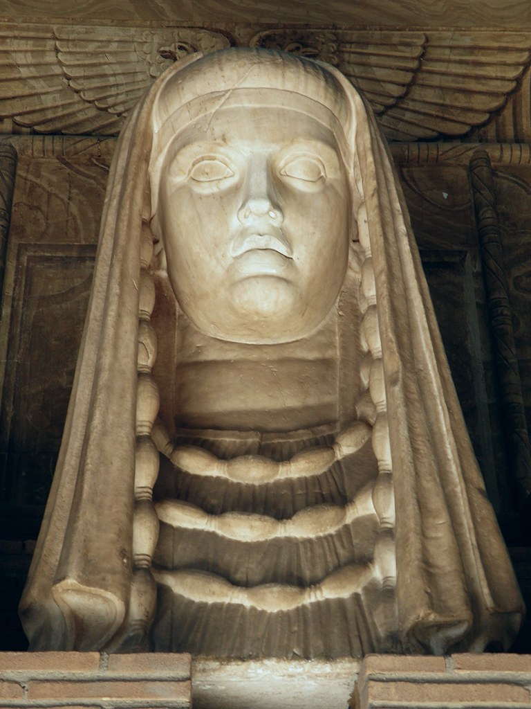 Monumental Bust Of The Goddess Isis Sothis Demeter From T
