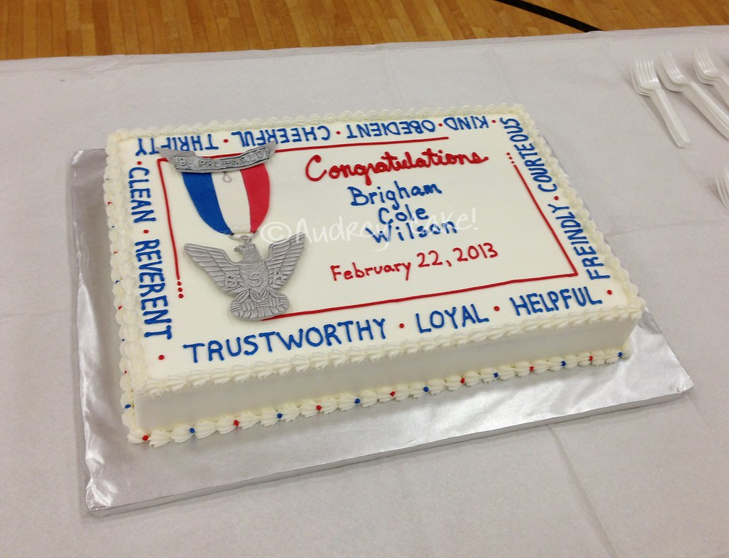 Boy Scout Sheet Cake