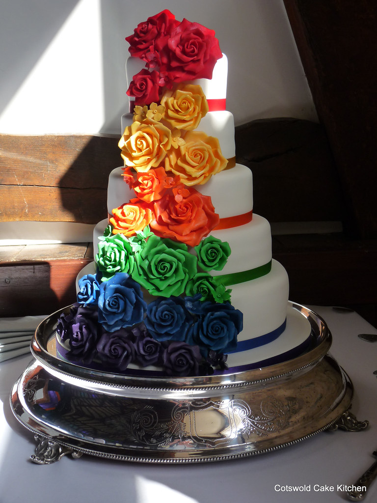 Rainbow Cake For Wedding