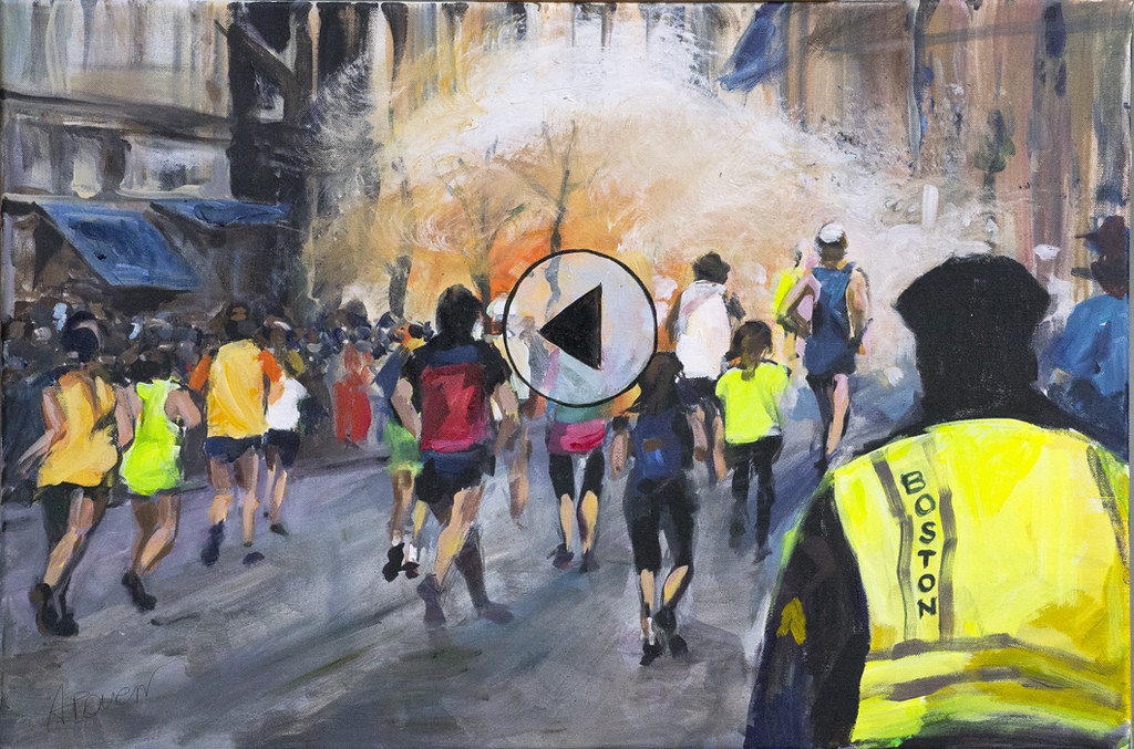 """Rewind it"" - Boston Marathon 2013 painting | Boston maratho… | Flickr"