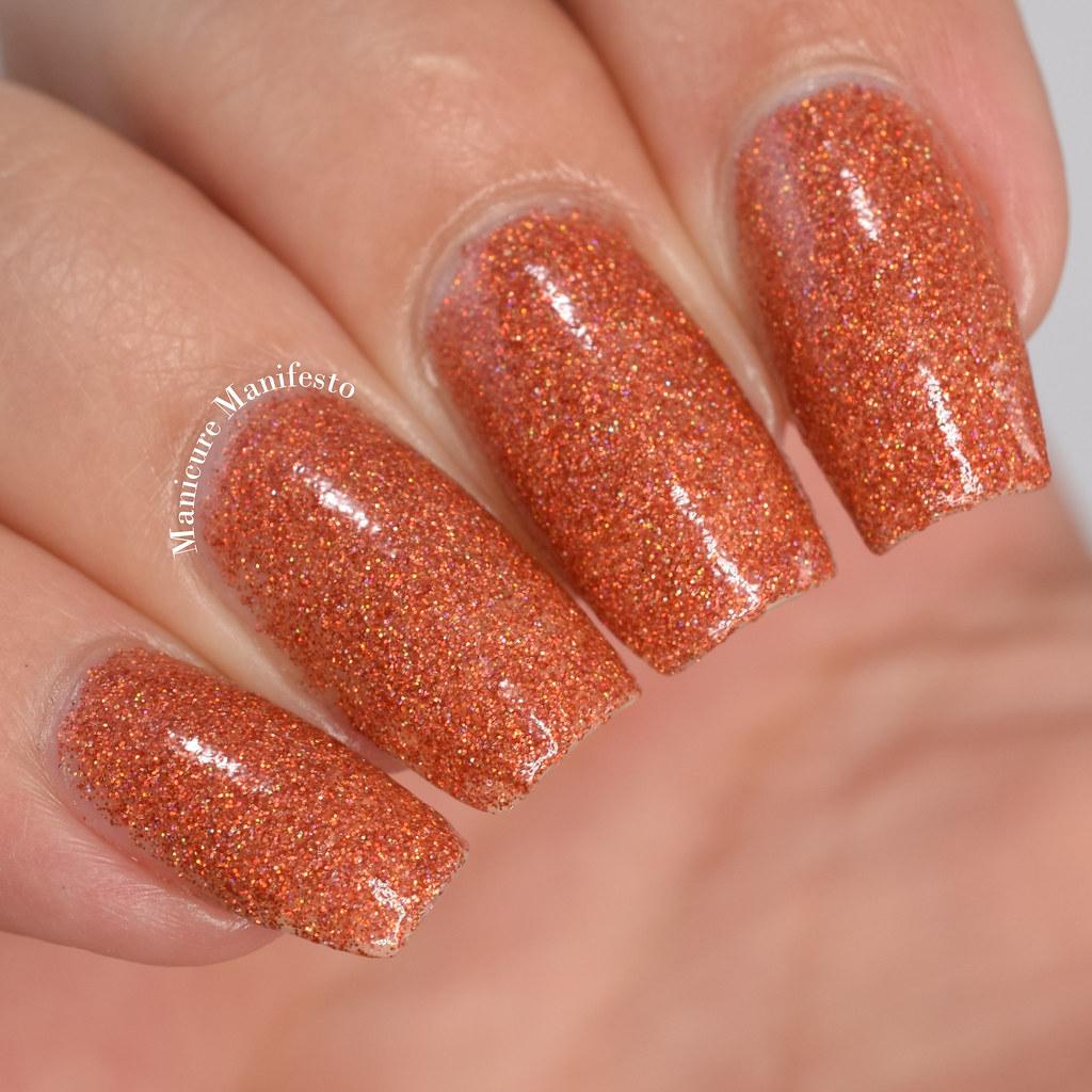 Orange Glitter Nail Polish