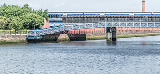 LAGAN RAILWAY PLUS PEDESTRIAN BRIDGE IN BELFAST [TWO FOR THE PRICE OF ONE]--121116 | by infomatique