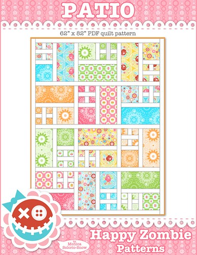 Patio - PDF quilt pattern | by Happy Zombie