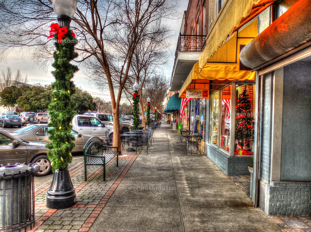 small town christmas window shopping by robbtomas - Small Town Christmas