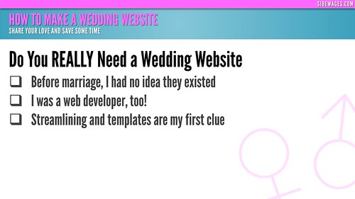 How to Make a Wedding Website - PowerPoint Slide # 02 | by SideWages