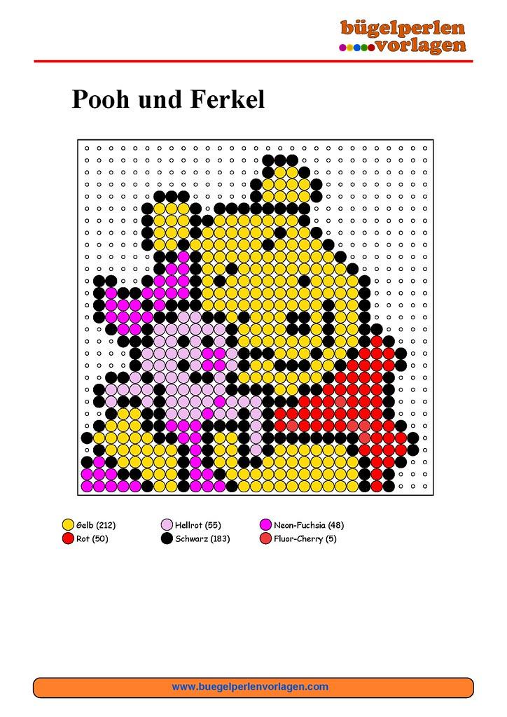 b gelperlen vorlagen winnie pooh perler bead patterns wi flickr. Black Bedroom Furniture Sets. Home Design Ideas