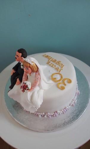 Pearl Wedding Anniversary Cake Decorations