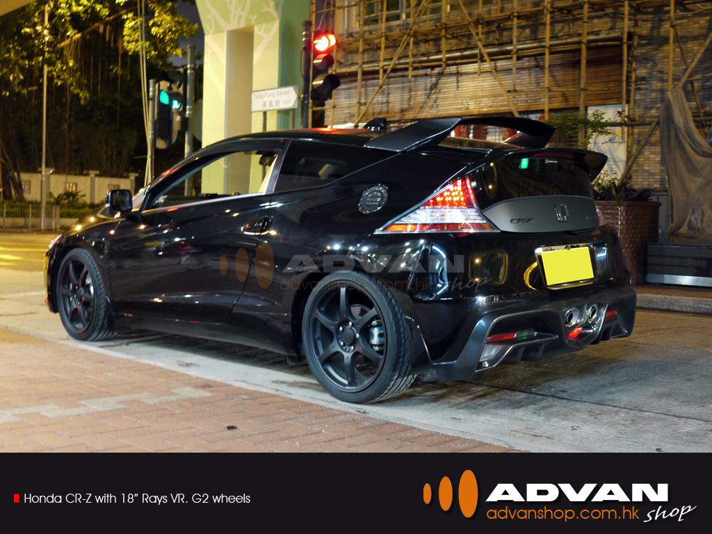 Honda Cr Z With 18 Quot Rays Vrg2 Wheels Advan Shop Flickr