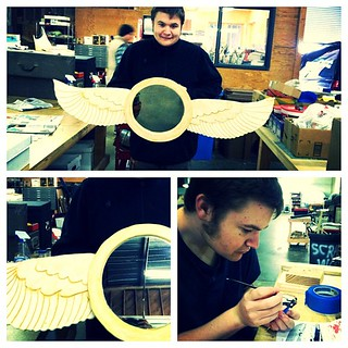 Connor is finished with his angelwing mirror !!! Now he's getting started on his new project - putting together a model BatBoat. | by Autistry Studios