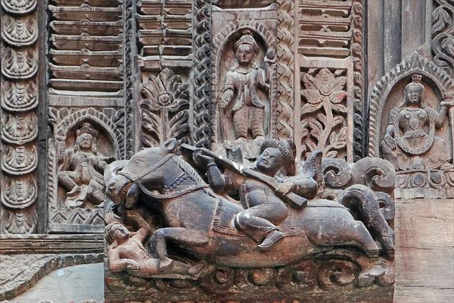 palais royal katmandou sculpture en bois sur la fa ade d flickr photo sharing. Black Bedroom Furniture Sets. Home Design Ideas