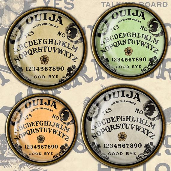 image regarding Ouija Board Printable called Ouija Board Electronic Collage Sheet Ouija Board Circle graphic
