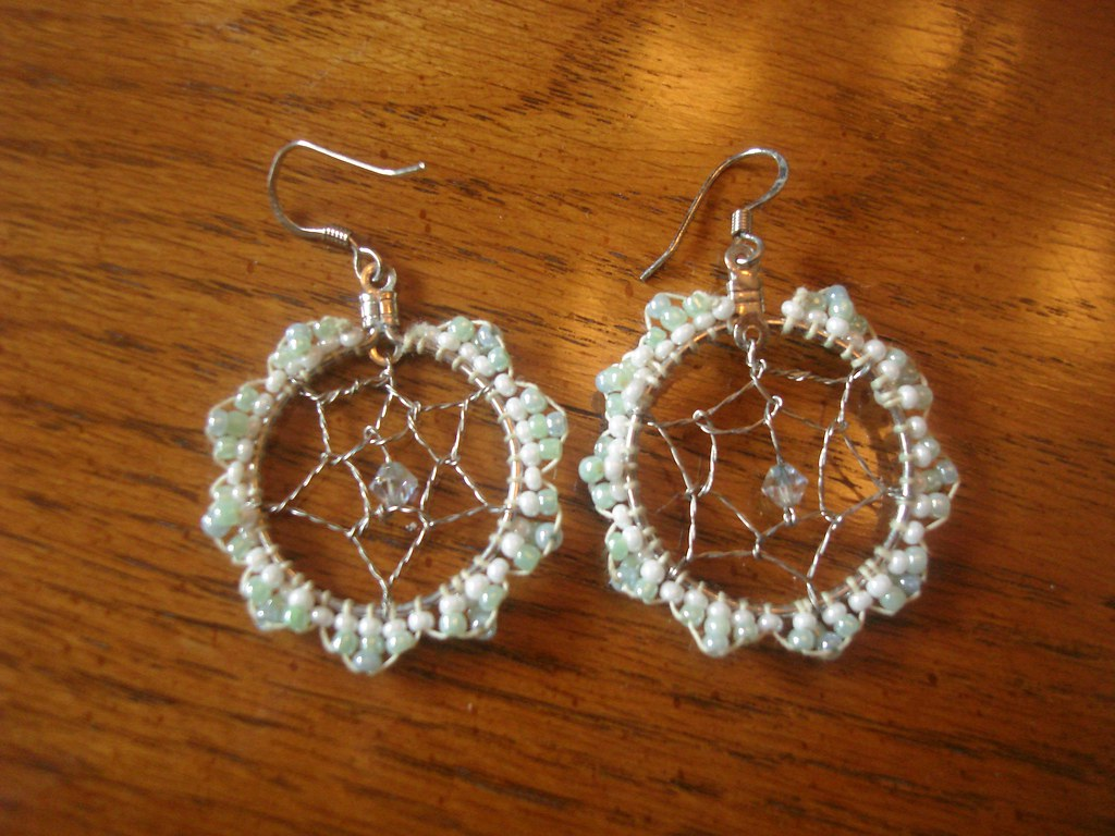 Dream Catcher Earrings These Take Forever To Make I Made Flickr