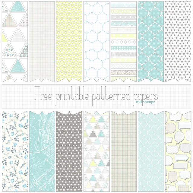 Love Graphics - free printable digital patterned paper set ...